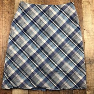 Banana Republic Blue Plaid Skirt AO14